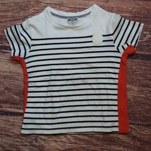 Jacadi short sleeve stripe tee shirt sz 8